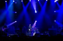 Den Texas musikbandet bor konsert Arkivfoto