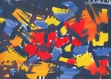 Den texturerade abstrakt begrepp målar Fotografering för Bildbyråer
