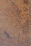 Den texturerade rostiga bruntet belägger med metall på bevattna Arkivfoton