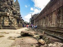 Den 12th århundradetemplet, Angkor Wat, Siem Reap, Cambodja Arkivfoton