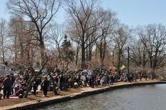 Den 37th årliga påskliljafestivalen i Meriden, Connecticut Arkivbilder