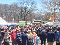 Den 37th årliga påskliljafestivalen i Meriden, Connecticut Royaltyfria Foton