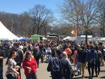 Den 37th årliga påskliljafestivalen i Meriden, Connecticut Fotografering för Bildbyråer