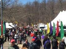 Den 37th årliga påskliljafestivalen i Meriden, Connecticut Arkivbild