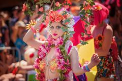 Den 36th årliga sjöjungfrun ståtar Royaltyfri Fotografi