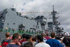 Den 75th årsdagen av den nyazeeländska marinen royaltyfri foto