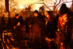 Den 34th årsdagen av John Lennon död på Strawberry Fields 20 Royaltyfri Foto