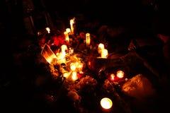 Den 34th årsdagen av John Lennon död på Strawberry Fields 37 Fotografering för Bildbyråer