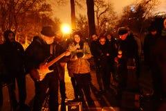 Den 34th årsdagen av John Lennon död på Strawberry Fields 44 Arkivfoton