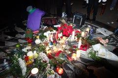 Den 34th årsdagen av John Lennon död på Strawberry Fields 4 Arkivfoton