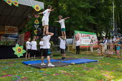 den 15th familjpicknicken i Orunia parkerar Royaltyfri Bild
