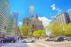 den 15th gatasikten på förälskelse parkerar med springbrunnen i Philadelphia Royaltyfria Foton