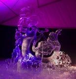 Den 20th internationella festivalen för isskulptur i Jelgavaen Lettland Arkivbilder
