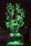 Den 20th internationella festivalen för isskulptur i Jelgavaen Lettland Royaltyfri Foto