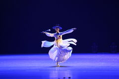 Den 10th konkurrensen för dans för Kina konstfestival, korean Royaltyfria Foton
