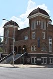 den 16th 1963 landmarken för kyrkan för den alabama baptistbirmingham bombningen historiska vetna motiverade tragisk st för natio Royaltyfri Fotografi