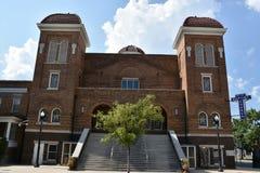 den 16th 1963 landmarken för kyrkan för den alabama baptistbirmingham bombningen historiska vetna motiverade tragisk st för natio Royaltyfria Foton