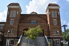 den 16th 1963 landmarken för kyrkan för den alabama baptistbirmingham bombningen historiska vetna motiverade tragisk st för natio Royaltyfria Bilder