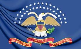 Den 20th Maine Volunteer Infantry Regiment Flag Arkivfoton