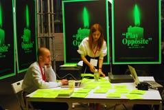 Den 6th Moskva Biennale av samtida konst Arkivfoto