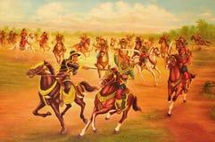 den thai slåss konungen kriger Arkivbild