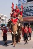 Den thailändska elefantdagen för medborgare. Fotografering för Bildbyråer