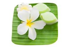 Den thailändska kokosnöten mjölkar jellywuunkathi; thai Royaltyfria Foton