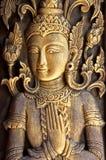 Den thailändska konstväggen mönstrar för bakgrund arkivbild