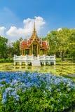 Den thailändska paviljongen i Suanluang RAMA offentlig IX parkerar Royaltyfria Foton