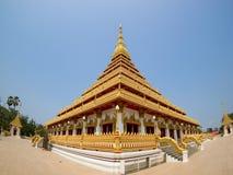 Den thailändska templet khonkaen in, Thailand Arkivbilder