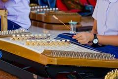 Den thailändska träcymbalmusikalen instrumenterar Royaltyfri Fotografi