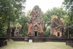 DEN THAILAND BURIRAM EN KHMER FÖRDÄRVAR PRANG KU SUAN TAENG Arkivfoton