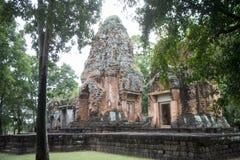 DEN THAILAND BURIRAM EN KHMER FÖRDÄRVAR PRANG KU SUAN TAENG Fotografering för Bildbyråer