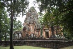 DEN THAILAND BURIRAM EN KHMER FÖRDÄRVAR PRANG KU SUAN TAENG Royaltyfria Foton