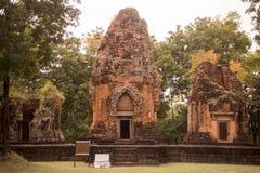 DEN THAILAND BURIRAM EN KHMER FÖRDÄRVAR PRANG KU SUAN TAENG Arkivfoto