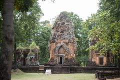 DEN THAILAND BURIRAM EN KHMER FÖRDÄRVAR PRANG KU SUAN TAENG Royaltyfria Bilder