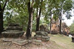 DEN THAILAND BURIRAM EN KHMER FÖRDÄRVAR PRANG KU SUAN TAENG Arkivbild