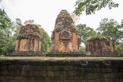 DEN THAILAND BURIRAM EN KHMER FÖRDÄRVAR PRANG KU SUAN TAENG Royaltyfri Fotografi