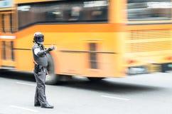 Den Thailand trafikpolisen Arkivbilder