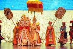 """Den Tibet konungen Song Xan Gan Bbu och prinsessan Wencheng-Large graderar scenarioshow"""" väglegend""""en Royaltyfri Fotografi"""