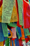 Den tibetana bönen sjunker Arkivbild