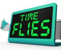 Den Tid flugaklockan betyder upptaget och passerar snabbt vektor illustrationer