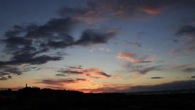 Den Tid schackningsperioden av Edinburg som solen går ner lager videofilmer