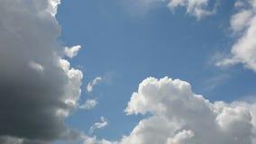 Den Tid schackningsperioden av spring fördunklar på en blå himmel stock video