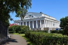 Den tidigare börsbyggnaden i Leningrad Fotografering för Bildbyråer