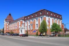Den tidigare byggnaden av regeringen av Gumbinnen byggde i 1911 Royaltyfri Foto