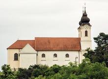 Den Tihany abbotskloster är en Benedictinekloster som är etablerad på Tihany in Royaltyfria Foton