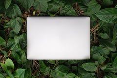 Den tillbaka sidan av bärbar datordatoren med sidor mönstrar bakgrund royaltyfria bilder