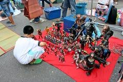 Den tillfälliga marknaden Royaltyfri Bild