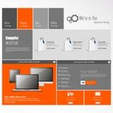 den tillgängliga designen eps8 formaterar jpeg-mallwebsite Fotografering för Bildbyråer